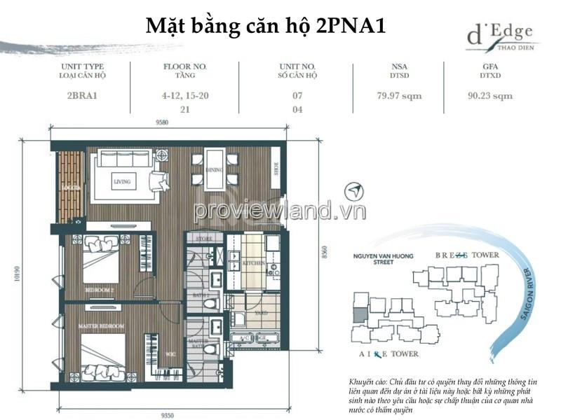 Chủ nhà đi Canada nên cần bán lại căn hộ D'edge Quận 2 97m2 2PN (ảnh 1)