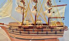 Mô hình thuyền chiến Napoleon gỗ tự nhiên thân 40cm