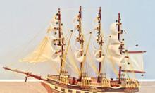 Mô hình thuyền gỗ chở hàng France II - thân 40cm