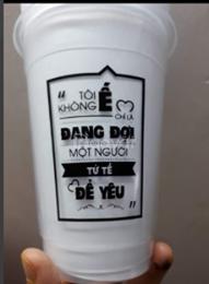 Nhận in logo ly nhựa cafe trà sữa giá sỉ