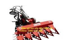 Tìm địa chỉ bán máy gặt lúa xếp dãy lắp động cơ xăng Honda/Vikyno