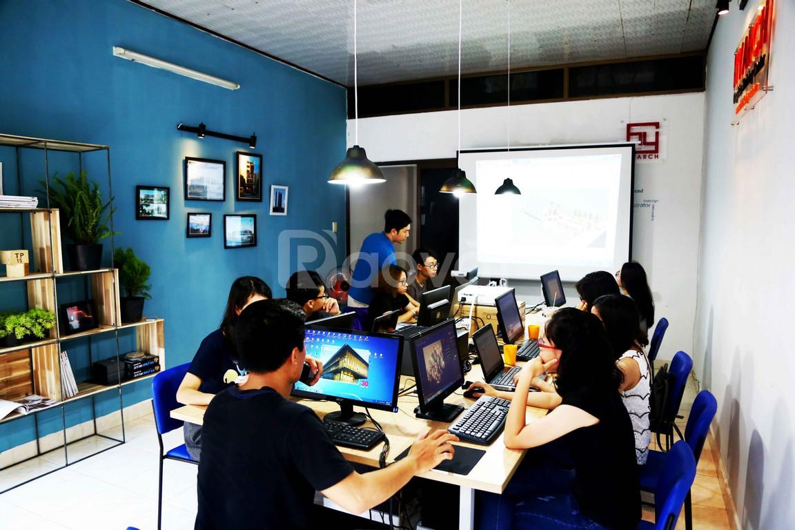 Đào tạo tin học kiến trúc - quảng cáo Hyarch tại Huế (ảnh 1)