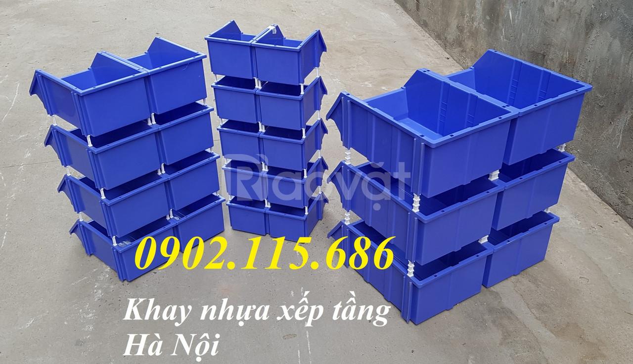 Khay nhựa xếp tầng đựng linh kiện, phụ tùng