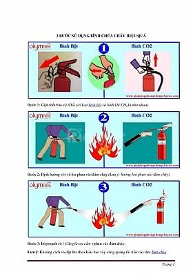 Nạp sạc bình chữa cháy tại Khánh Hòa