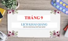 Khai giảng các lớp học tiếng Trung tháng 9-2018