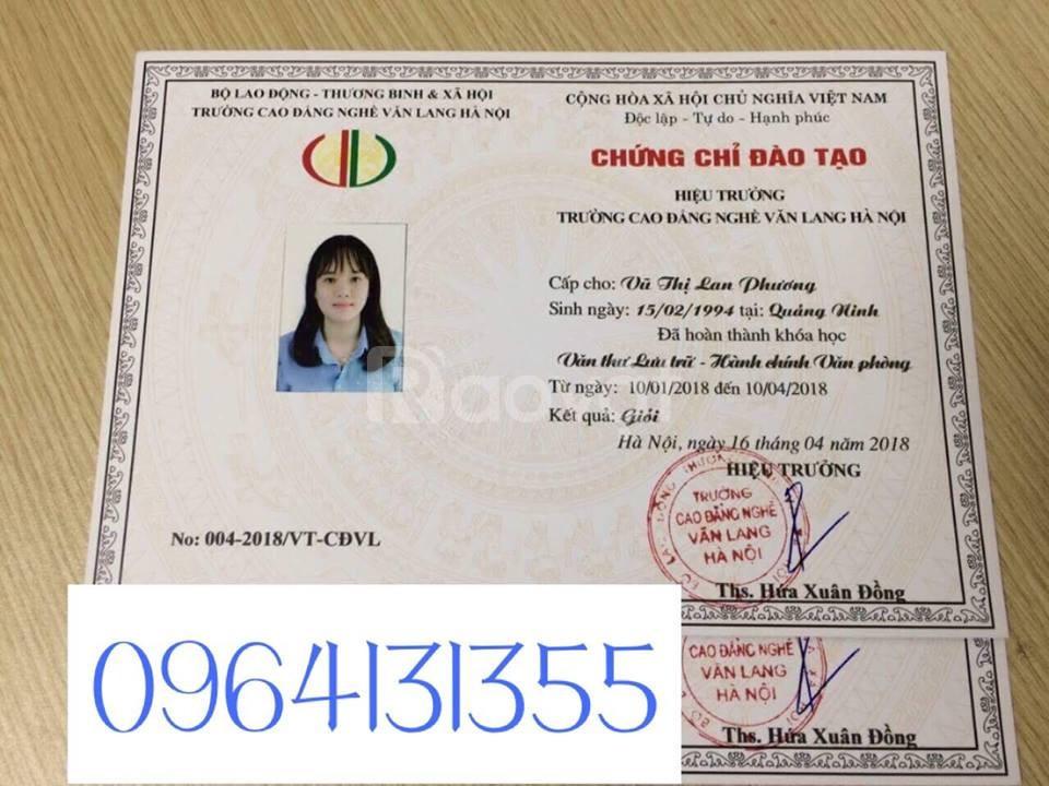Chứng chỉ nghiệp vụ văn thư, lưu trữ tại quận Tân Phú