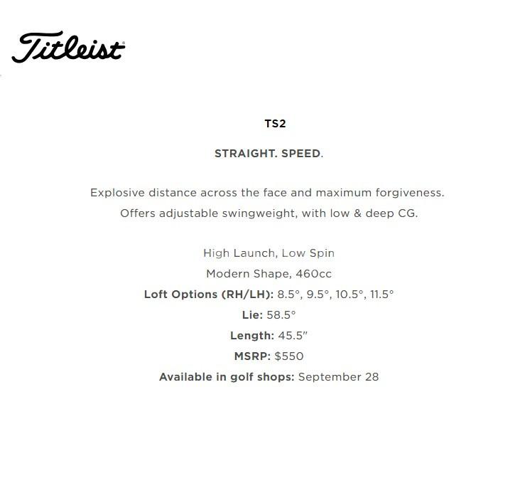 Gậy golf Titleist Driver, Fairway TS2, TS3
