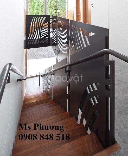 Thiết kế, gia công lan can cầu thang sắt nghệ thuật cho nhà phố