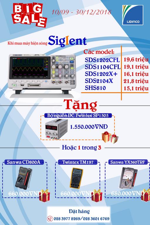 Khuyến mãi các dòng máy hiện sóng, máy phát xung, máy phổ Siglen