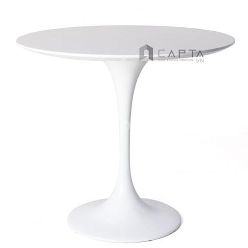 Bộ bàn tư vấn tiếp khách mặt kính và ghế thân nhựa chân thép mạ ở HCM