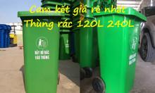 An Giang nơi bán thùng rác 240 lít giá rẻ, thùng rác nhựa nắp kín