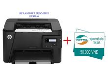Máy in laser trắng đen HP LaserJet Pro M201D tặng thẻ cào 50K