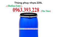 Thùng phuy nhựa 220L giá rẻ