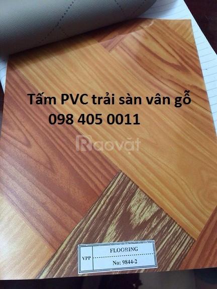 Tấm nhựa simili trải sàn vân gỗ giá rẻ Hà Nội