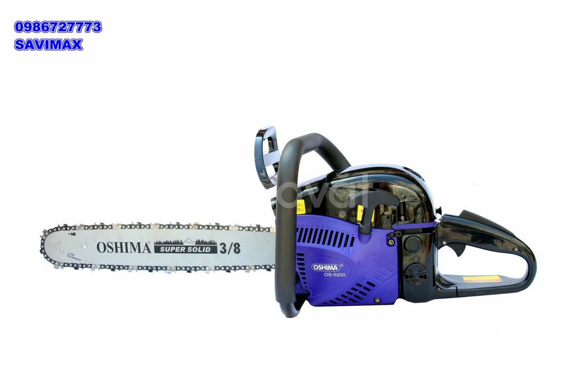 Máy cưa xích Oshima 5200 với công suất hoạt động mạnh mẽ