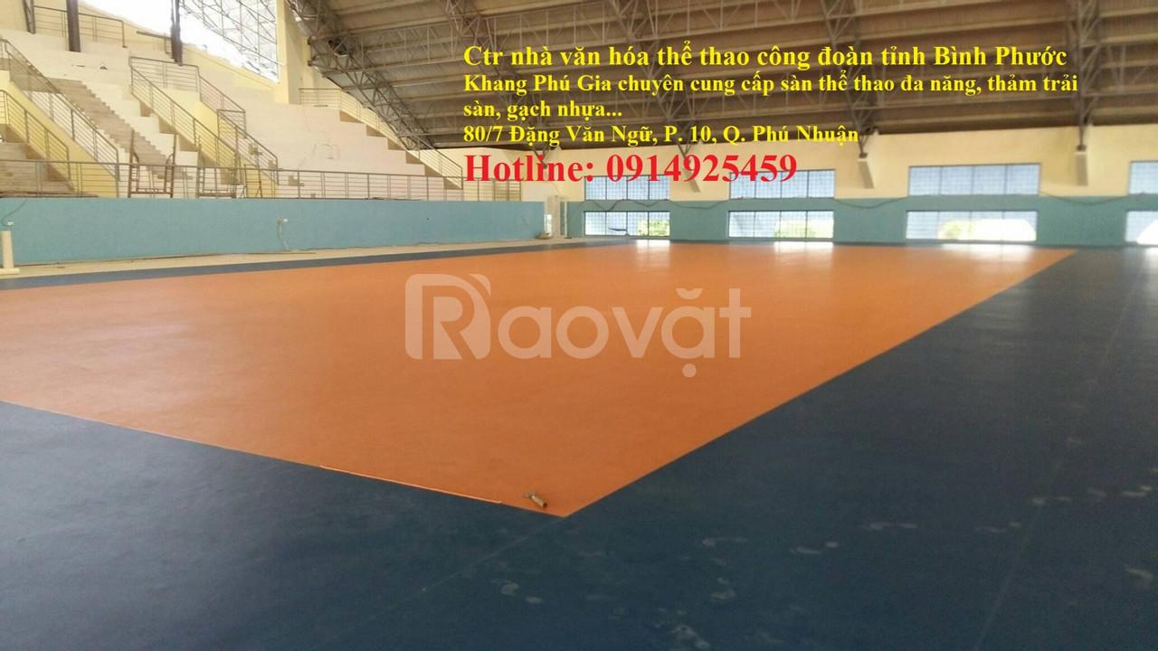 Cung cấp sàn vinyl thể thao Ecosport chuyên dùng cho thi đấu thể thao