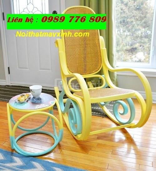 Ghế mây bập bênh giá rẻ, ghế bập bênh người lớn, ghế bập bênh thư giãn