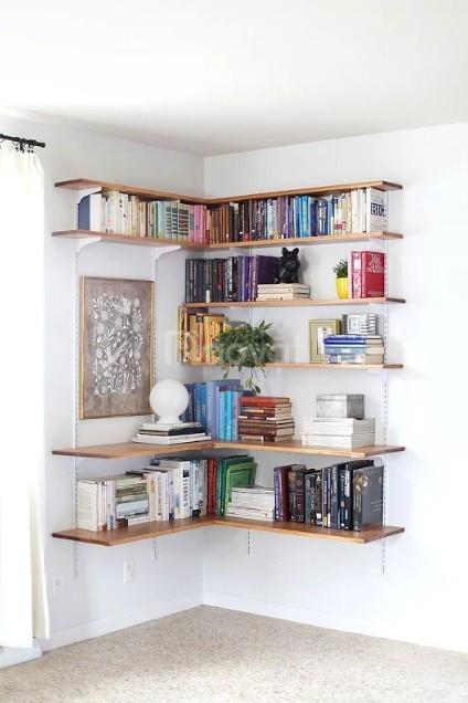 Giá sách gỗ treo tường