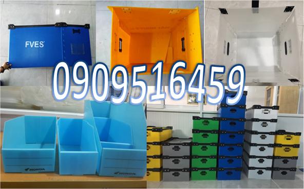 Sản xuất thùng nhựa pp danpla tại TP HCM
