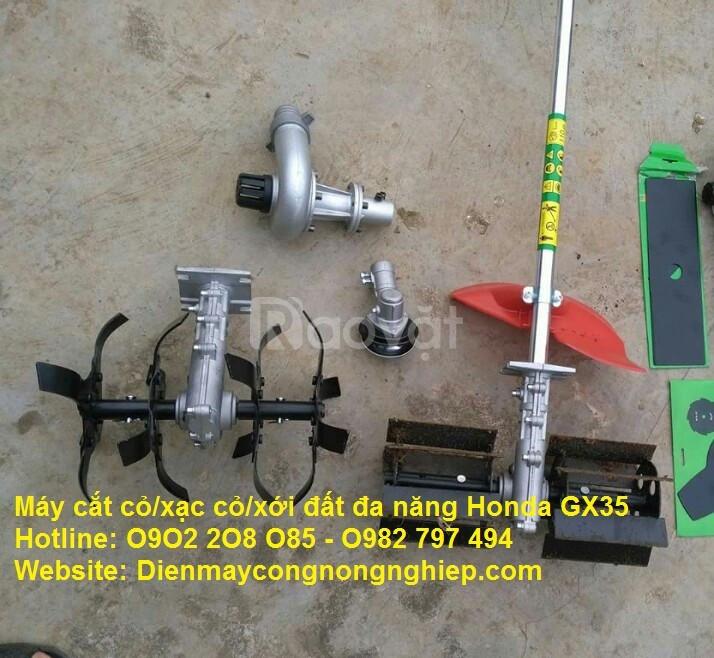 Máy cắt cỏ/xạc cỏ/xới đất/bơm nước tưới cây đa năng Honda GX35 (ảnh 5)