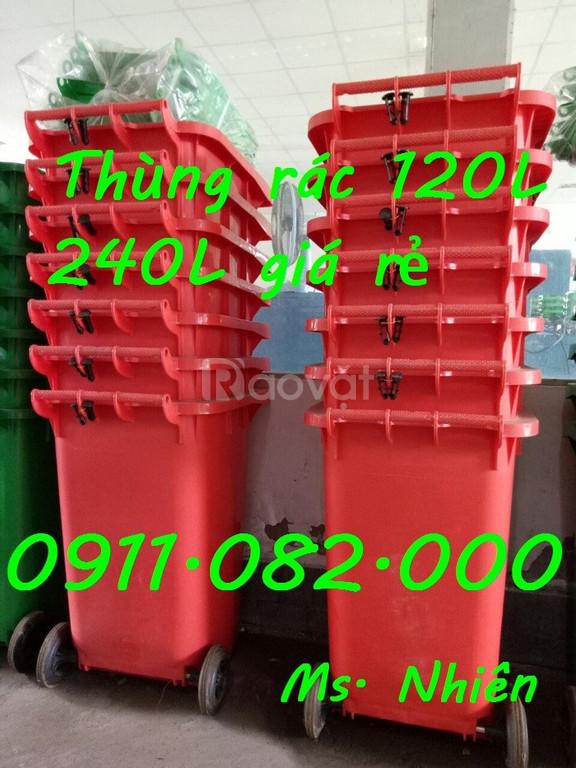 Phân phối thùng rác 240 lít giá rẻ tại tỉnh Lai Châu