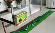 Bộ chơi golf mini, thảm gạt golf, putting green gỗ