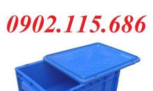 Thùng nhựa có nắp, sọt nhựa có nắp, thùng đựng linh kiện