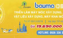 Du lịch tiết kiệm với tour hội chợ Bauma China 2018 của VietPower