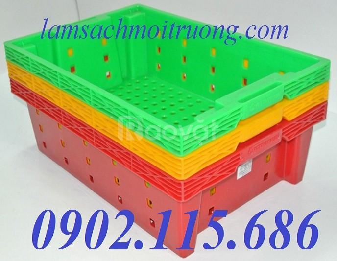 Rổ nhựa đựng trái cây, rổ nhựa đựng hải sản, rổ nhựa trong siêu thị (ảnh 3)