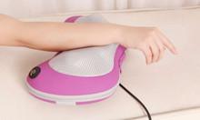 Gối massage giảm đau vai cổ gáy Nhật Bản, gối mát xa 8 bi