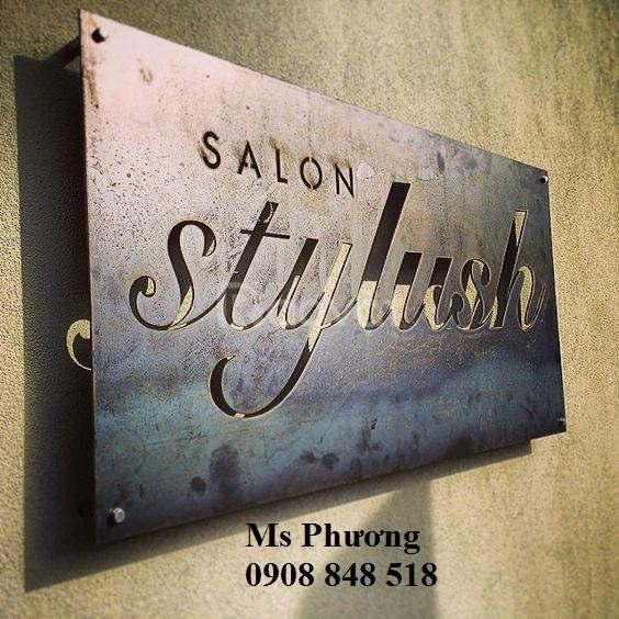 Cắt CNC chữ, logo bằng kim loại trang trí shop, nhà hàng, công ty