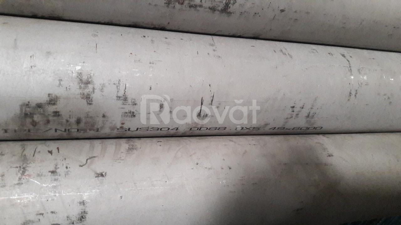 Ống đúc inox 304 nhập khẩu giá rẻ - Fi88.9 x 5.49 x 6000/304/NO.1