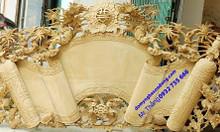 Cuốn thư câu đối gỗ sơn son thếp bạc thếp vàng cho tư gia