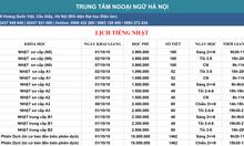 Lịch khai giảng khóa học tiếng Nhật tại Ngoại ngữ Hà Nội