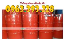 Thùng phuy sắt nắp kín giá rẻ tại Hà Nội (cũ/mới)