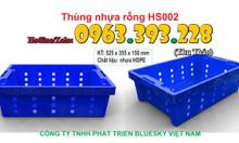 Thùng nhựa rỗng HS002 (sóng nhựa hở)