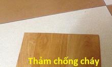 Thảm nhựa vân gỗ chống cháy, thảm nhựa phòng khách