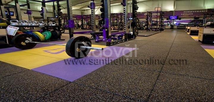 Thi công hoàn thiện sàn phòng gym, tập thể hình