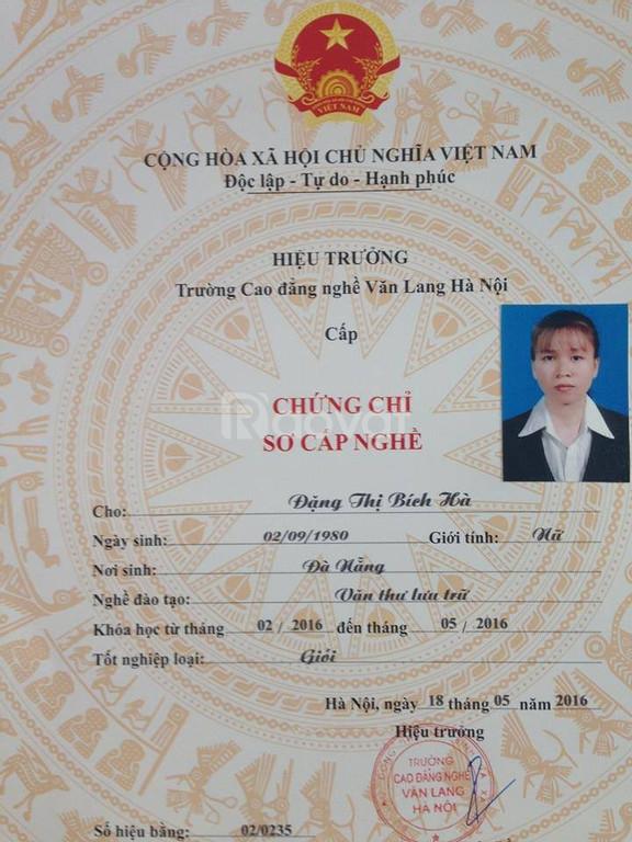 Học nghiệp vụ thông tin thư viên-văn thư lưu trữ tại Đà Nẵng Quảng Nam