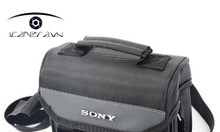 Túi đựng máy ảnh Sony Canon Nikon dáng vuông màu ghi 18cm