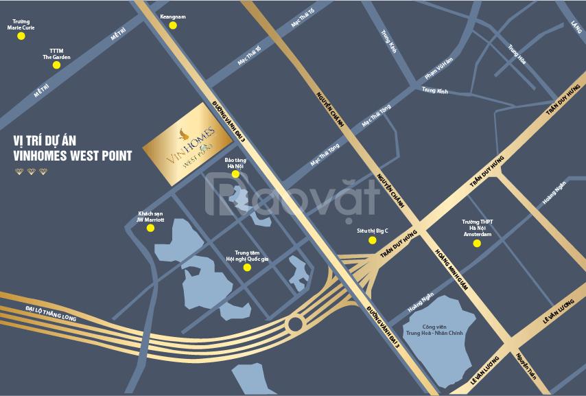 Bán căn hộ 1 PN Vinhomes West Point Đỗ Đức Dục, thích hợp cho thuê (ảnh 1)
