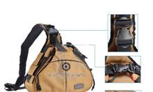 Túi máy ảnh DSLR khoác vai Caden K1 màu Kaki