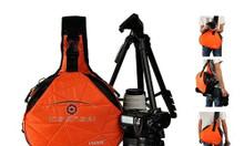 Túi máy ảnh Caden K2 dạng tam giác màu cam thời trang