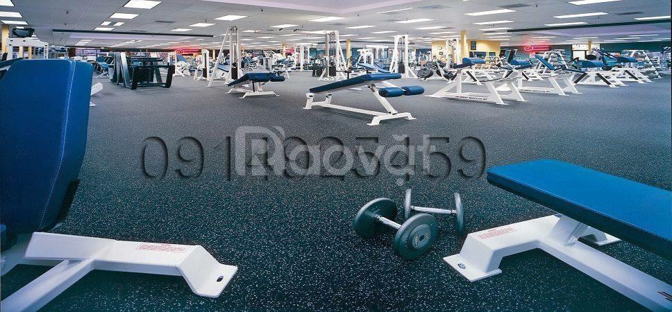 Sàn cao su chất mẫu mã đẹp dành cho phòng gym