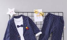 Đồ bộ vest dành cho bé trai cá tính năng động