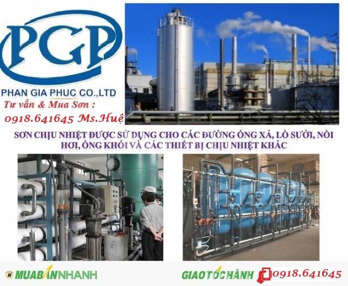 TPHCM, Hà Nội đại lý sơn kcc chịu nhiệt 600độ màu bạc, 200độ đa màu