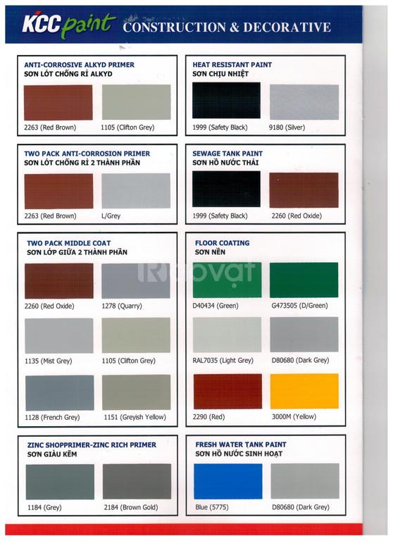 Đại lý sơn kcc chịu nhiệt màu đen 600độ qt606-1999, qt606-9180 màu bạc
