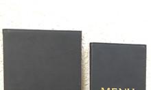 Địa chỉ đặt menu bìa da tại TPHCM, menu da bắt vít, menu kiếng