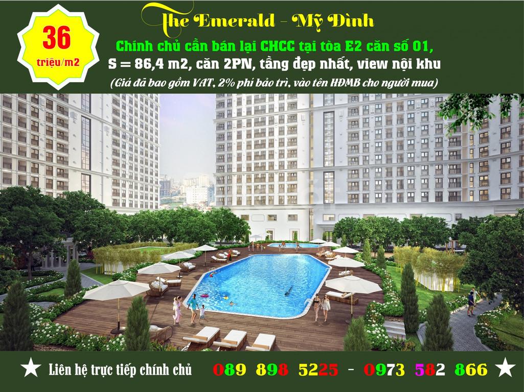 Chính chủ bán CHCC The Emerald - CT8 Mỹ Đình tòa E2, căn và tầng đẹp (ảnh 4)