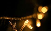 Dây đèn led thả trang trí quán